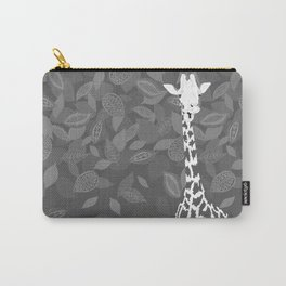 Funny Giraffe with Leaves Carry-All Pouch