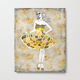 The Yellow Dress Metal Print
