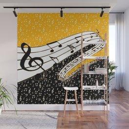 Gold music theme Wall Mural