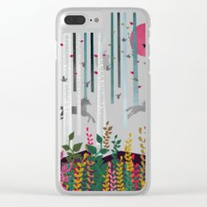 Flying Horses Clear iPhone Case