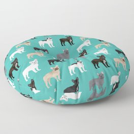 French Bulldog pattern dog breed must have gifts for frenchie owner pillows decor Floor Pillow