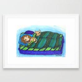 Sleeping In... Framed Art Print