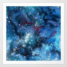 Watercolor galaxy Art Print