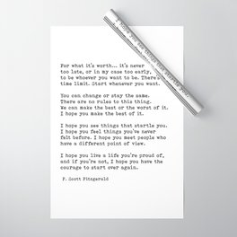 For what it's worth -  F Scott Fitzgerald Wrapping Paper