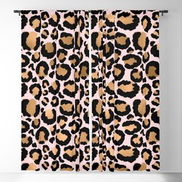 Animal print - pink copper Blackout Curtain