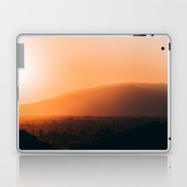 Sepia Orange Sunset Mountain Hills Landscape Photo Laptop & iPad Skin