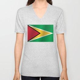 Guyanese Flag Unisex V-Neck