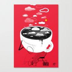 Coffee ASleep Canvas Print