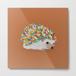 Hedgehog Sprinkles Metal Print