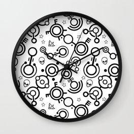 Crop Circles (Black Lines) Wall Clock
