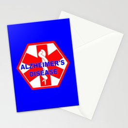 Alzheimer dementia medical identification ID tag Stationery Cards