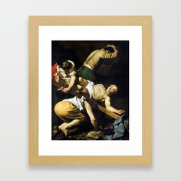 Caravaggio Crucifixion of Saint Peter Framed Art Print