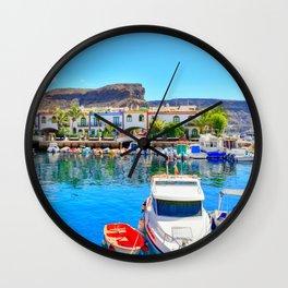 Puerto de Mogan port Wall Clock
