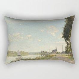 Argenteuil by Claude Monet Rectangular Pillow