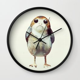 Porg on Ahch-To Wall Clock
