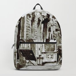Carrer del Bisbe - Barcelona Black and White Backpack