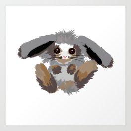 Baby bunny vector illustration Art Print