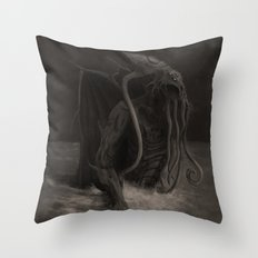 Cthulhu Rises Throw Pillow