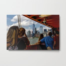 NYC from The Ferry Metal Print