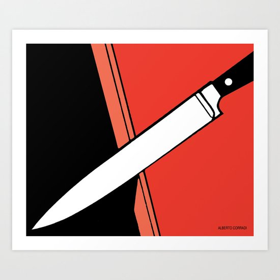 THE KNIFE Art Print