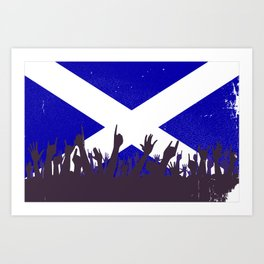 Scotland Flag with Audience Art Print