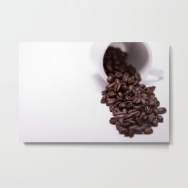 Coffee Spill Metal Print