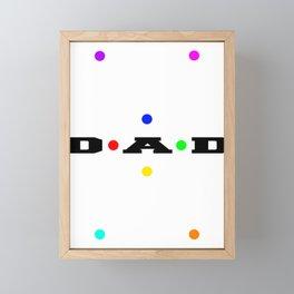 Dad Dots Framed Mini Art Print