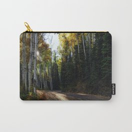 Mountain Aspen Autumn Road Carry-All Pouch