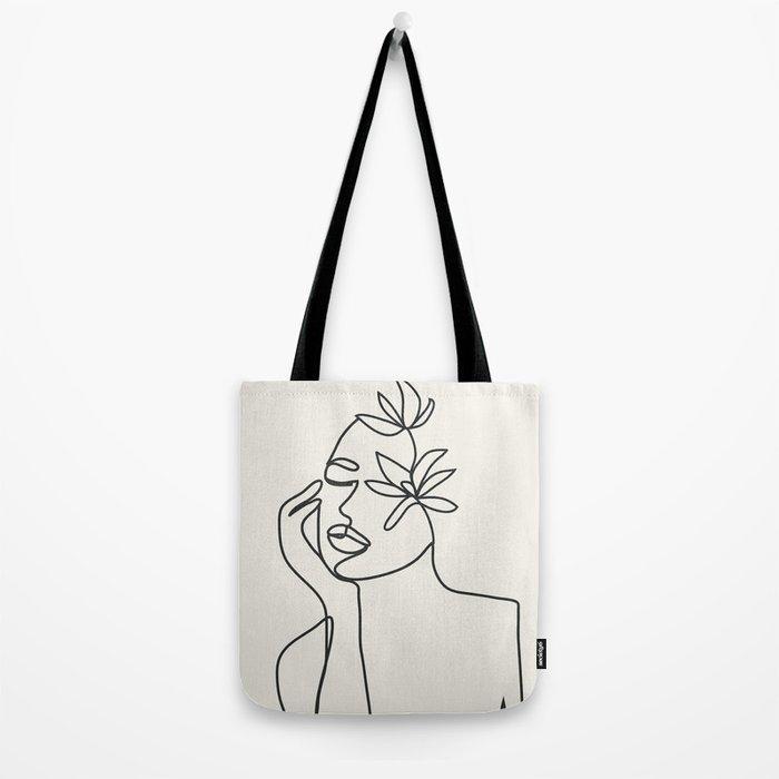 Abstract Minimal Woman I Tote Bag