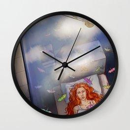 Greta Clouds Wall Clock