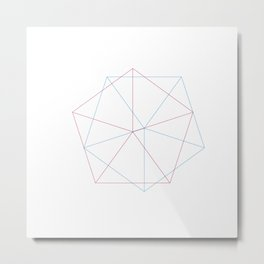 #260 Aiming – Geometry Daily Metal Print