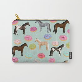 Horses Donuts - horse, donut, pastel, food, horse blanket, horse bedding, dorm, cute design Carry-All Pouch