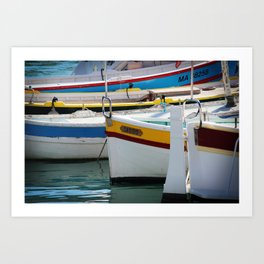 Boats in Cassis Art Print