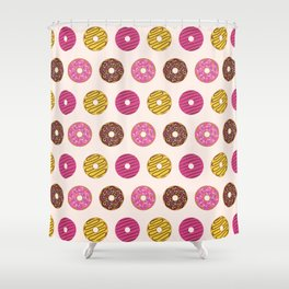 Sweet Donuts Pattern Shower Curtain