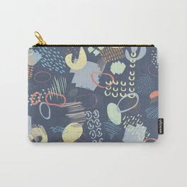 Playful Colorful 80s Marks Carry-All Pouch