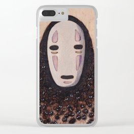 No Face - Spirited Away with Soot sprites (Susuwatari) Clear iPhone Case