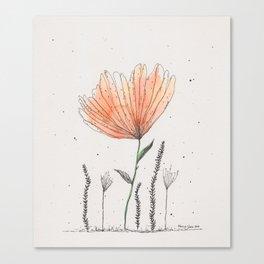 flor naranja Canvas Print