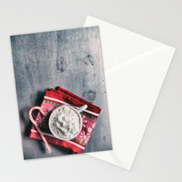 Christmas Cocoa With Candy Cane Stationery Cards