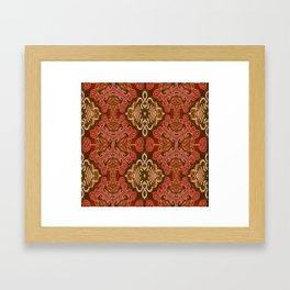 Celtic and Mayan Inspired Neotribal Print Framed Art Print