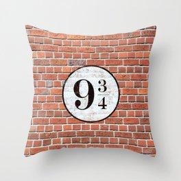 Platform Nine and Three-Quarters Throw Pillow