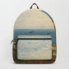 'Coastal Scene and Tidal Ponds' landscape by Gilbert Munger Backpack