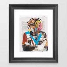 man of action - b-side Framed Art Print