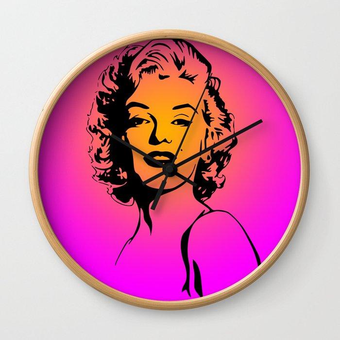 Marilyn Pink Wall Clock