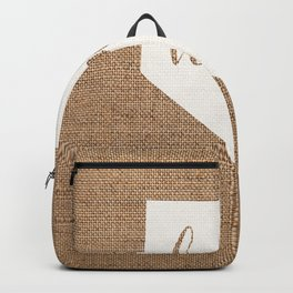 Nevada is Home - White on Burlap Backpack