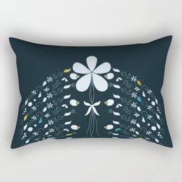 Night Garden Pattern Rectangular Pillow