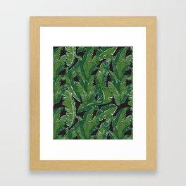 Leaves Bananique in Black Pearl Framed Art Print