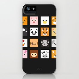 Animal Faces iPhone Case