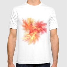 Simpy free - i love colours  (A7 B0210) MEDIUM Mens Fitted Tee White