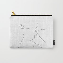 Minimal figure illustration - Alexis Carry-All Pouch