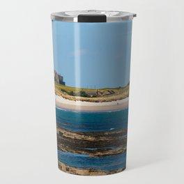 Bamburgh Castle Beach Travel Mug